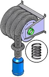 spring-recoil-hose-reel-for-vehicle-exhaust-extraction - Main Image